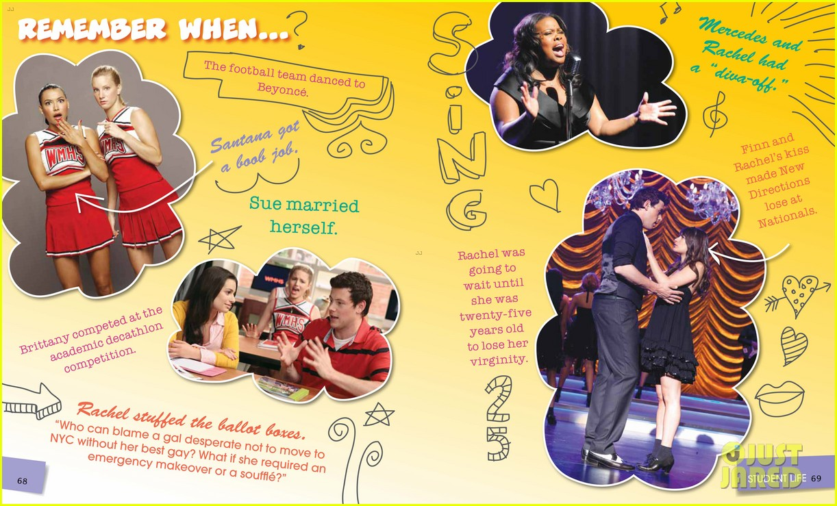glee mckinley high yearbook exclusive inside look 02