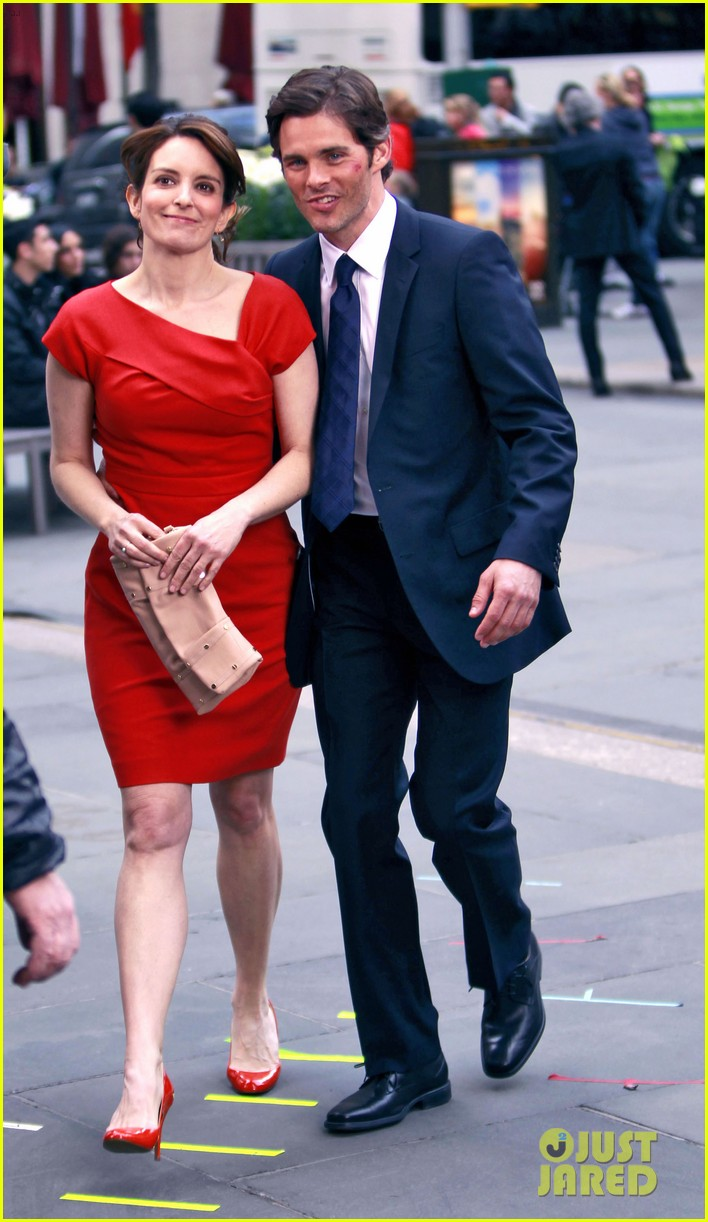 james marsden tina fey kiss on 30 rock set 132647151