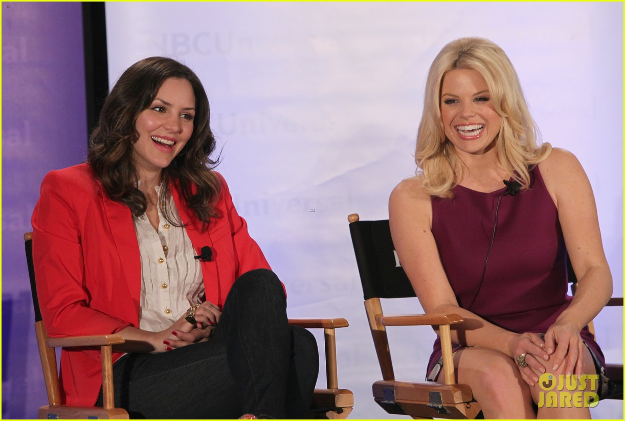 katharine mcphee megan hilty smash nbc press day 13