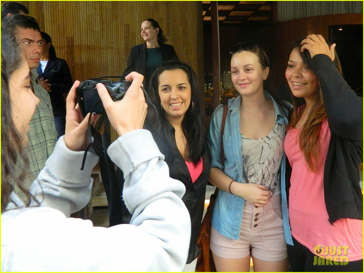 leighton meester fan friendly in rio 11