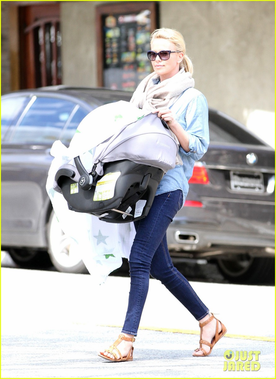 charlize theron little doms lunch with baby jackson 052649162
