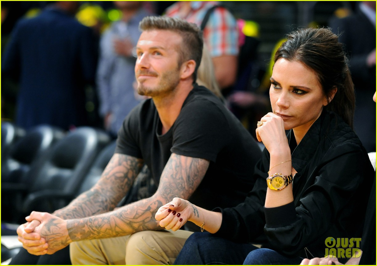 david victoria beckham lakers lovers 09