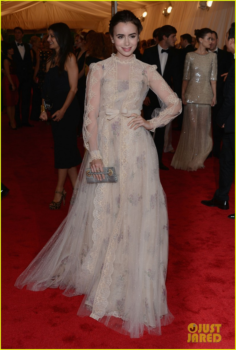 lily collins met ball 2012 04