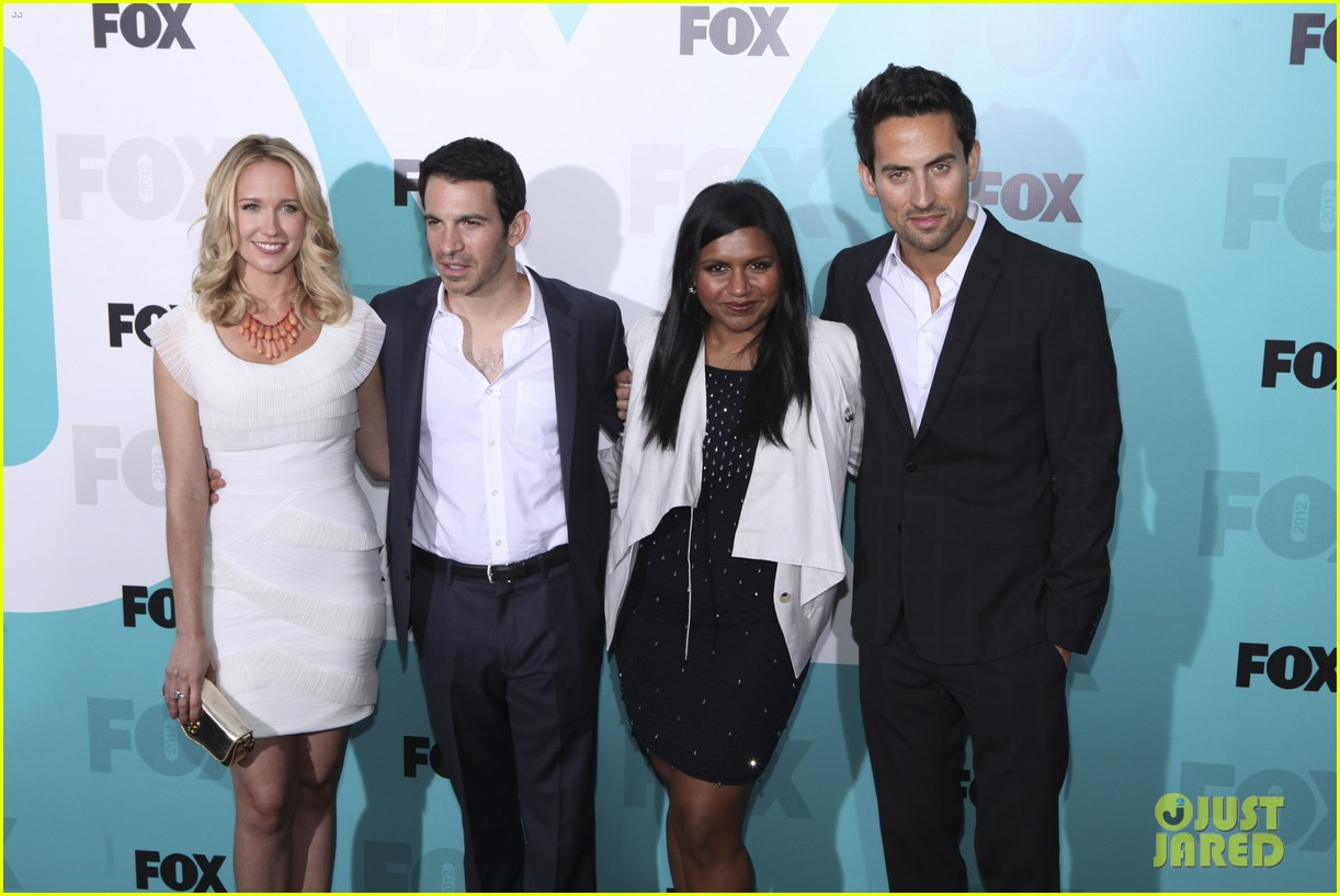mindy kaling fox upfront with the mindy project cast 01