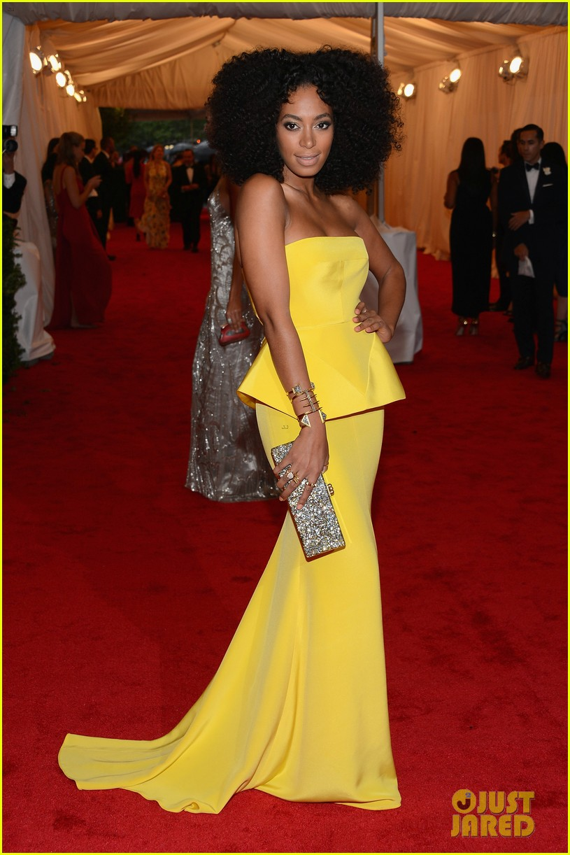 Solange Knowles in Rachel Roy, Met Ball