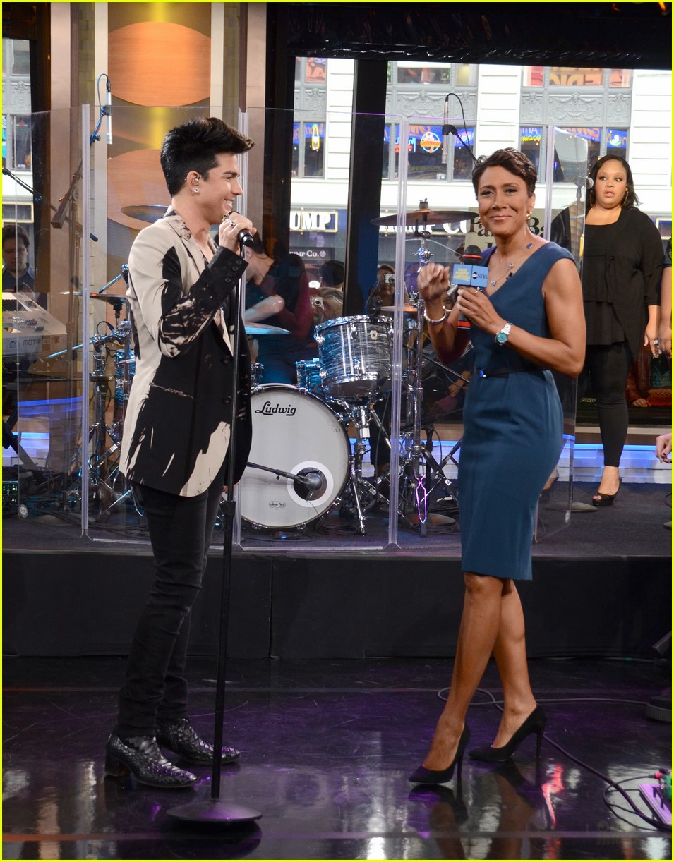 adam lambert good morning america 08