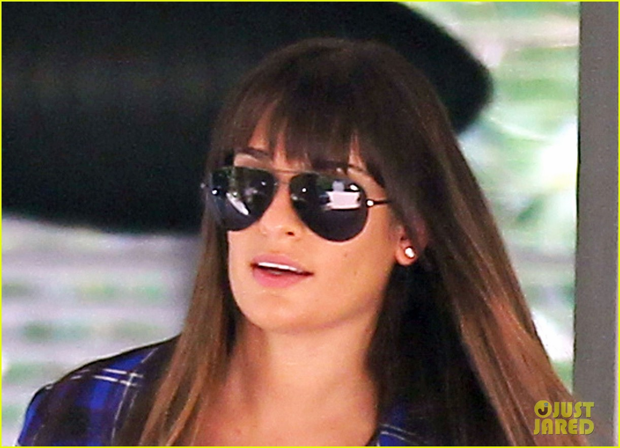 lea michele cory monteith new york bound for new york upfronts 15