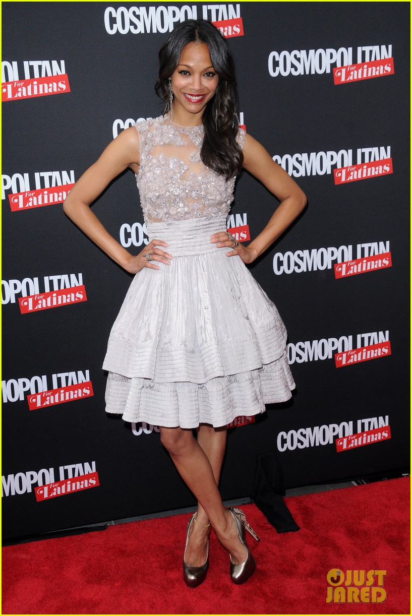 zoe saldana cosmopolitan for latinas premiere issue party 03