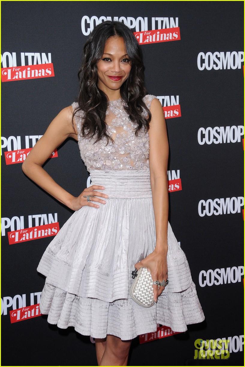 zoe saldana cosmopolitan for latinas premiere issue party 052660007
