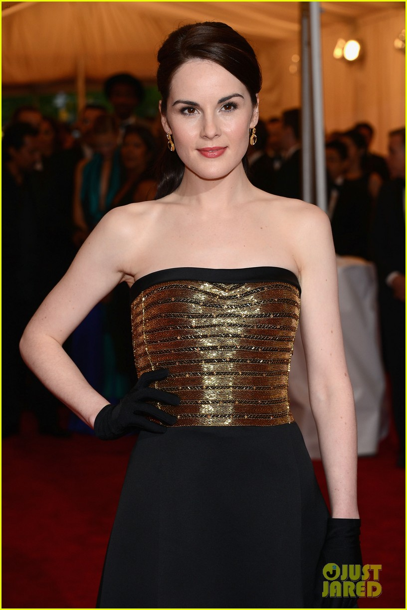 brooke shields michelle dockery met ball 2012 042658410