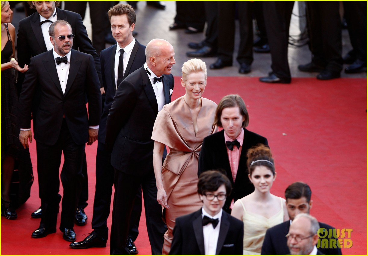 tilda swinton bruce willis moonrise kingdom premiere cannes 032662901