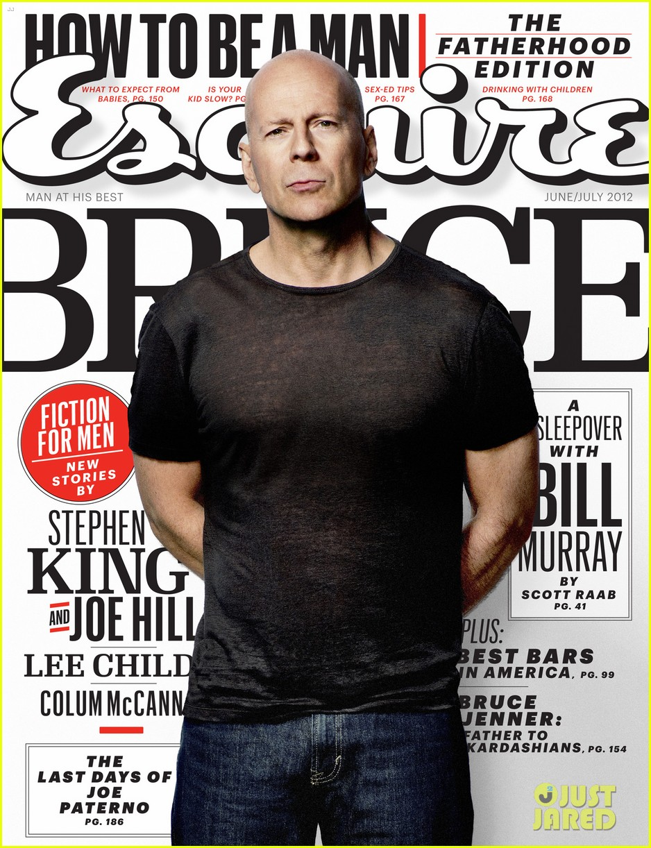 bruce willis esquire june