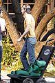 ashton kutcher stripes on jobs set 08