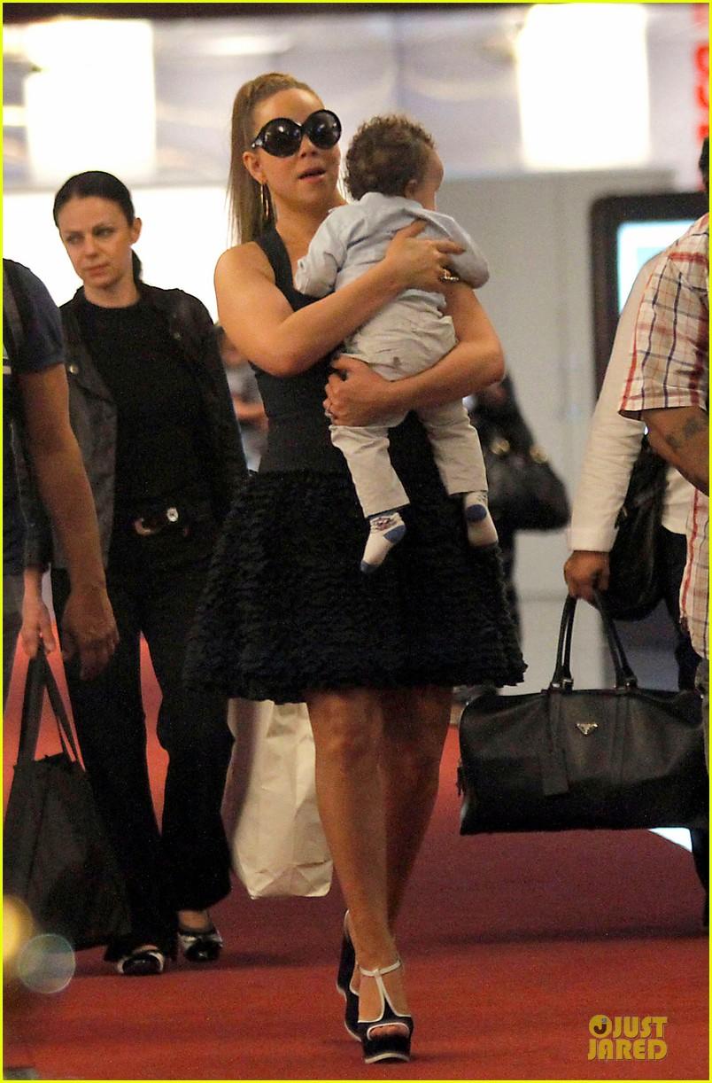 mariah carey nice airport dem babies 012671208