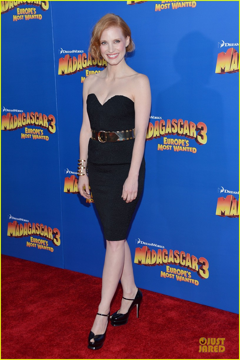 jessica chastain madagascar 3 nyc premiere 13