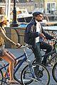 leonardo dicaprio erin heatherton biking twosome 05