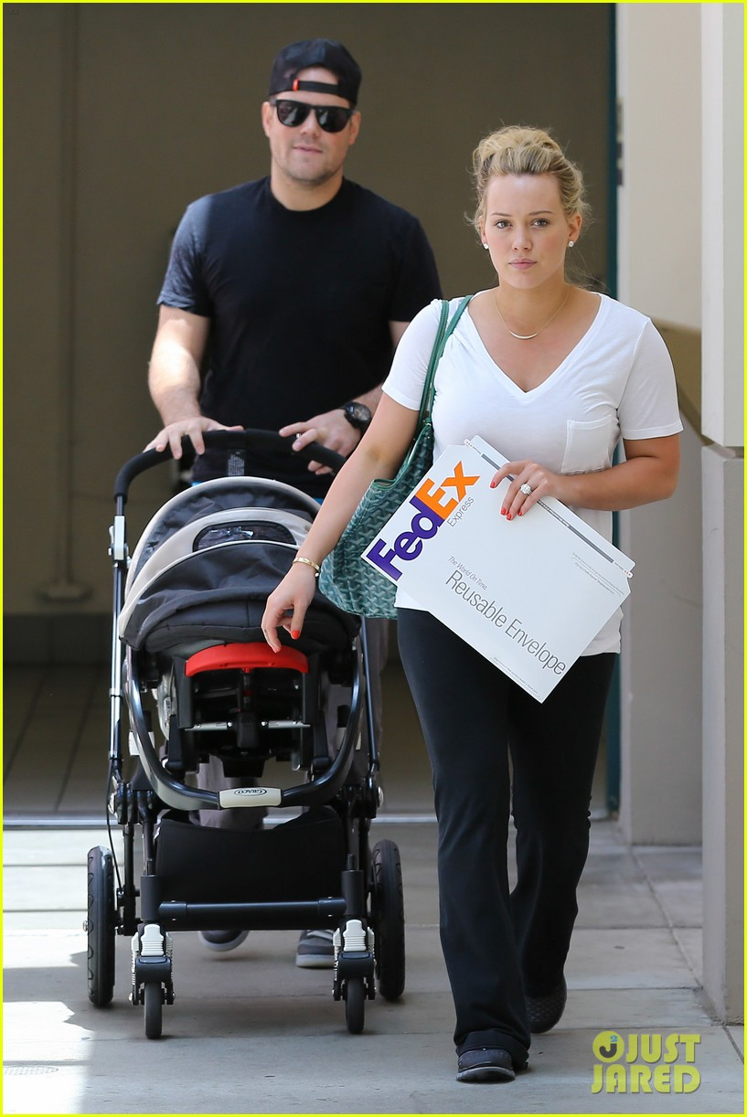 hilary duff baby luca walk with mike comrie photo