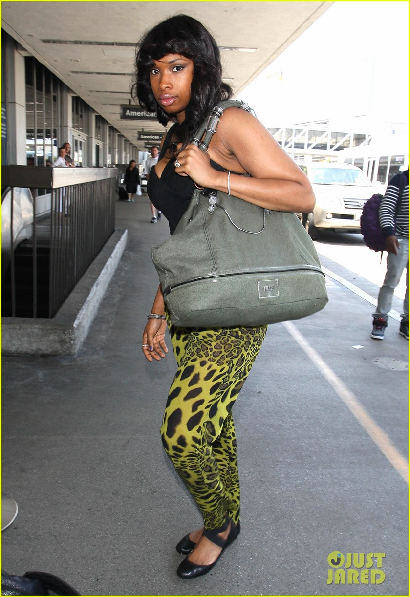 jennifer hudson animal print pants 05