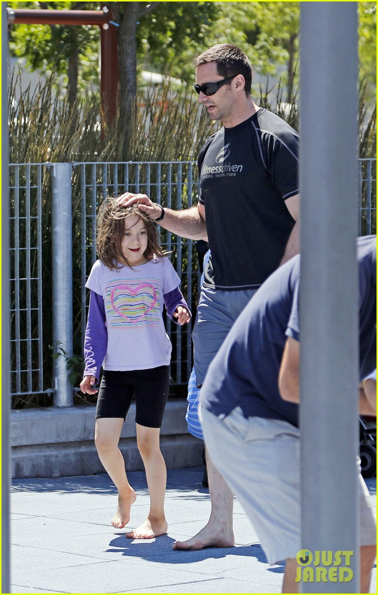hugh jackman fathers day walk 052676341