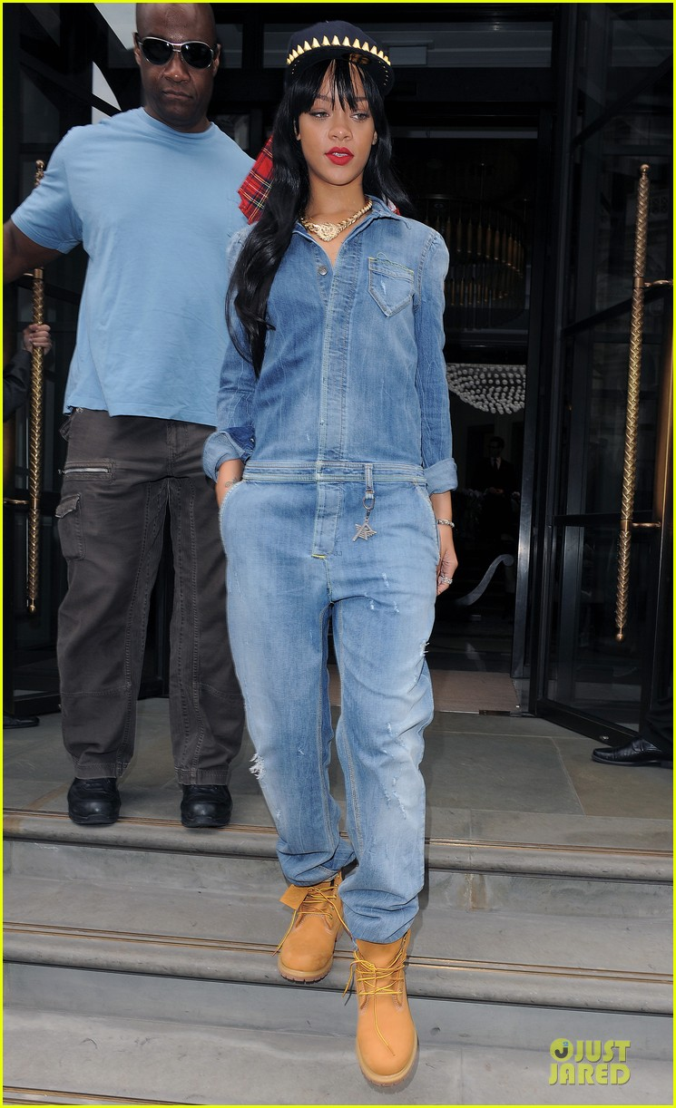 rihanna double denim london 10