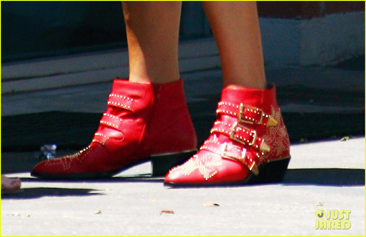kate walsh red ankle booties 03