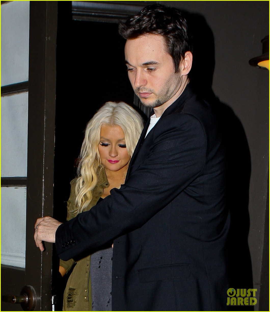 christina aguilera osteria mozza with matthew rutler 102692765