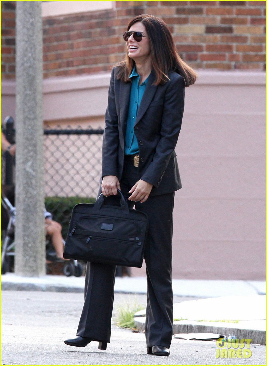 sandra bullock the heat set with melissa mccarthy 01