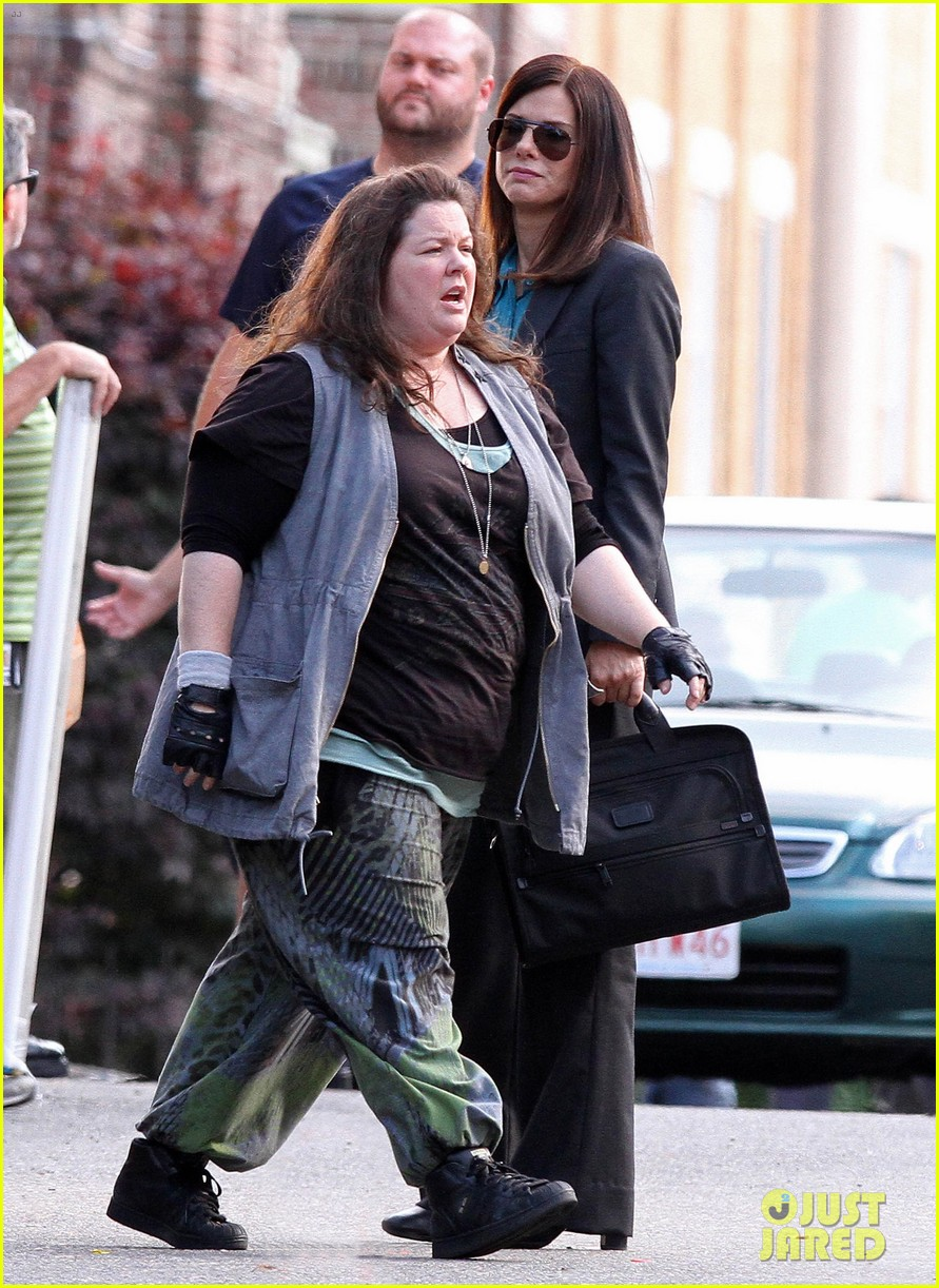 sandra bullock the heat set with melissa mccarthy 03