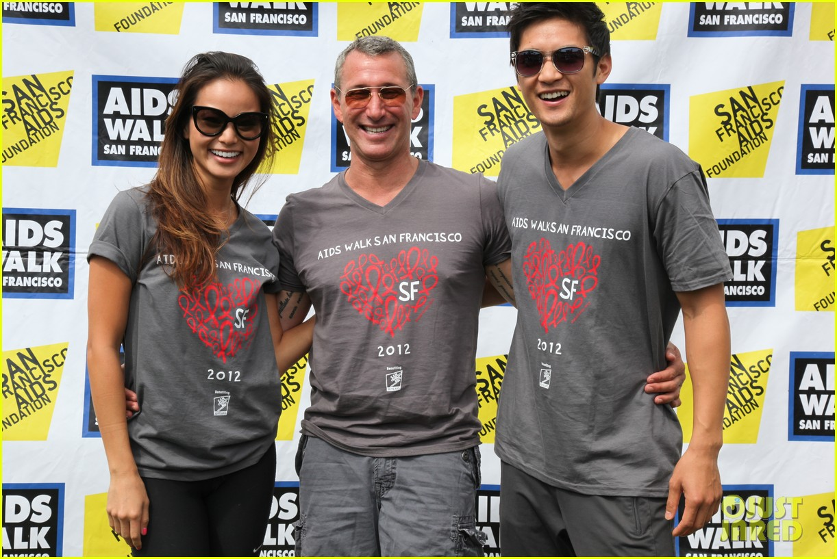 jamie chung harry shum jr aids walk san francisco 10