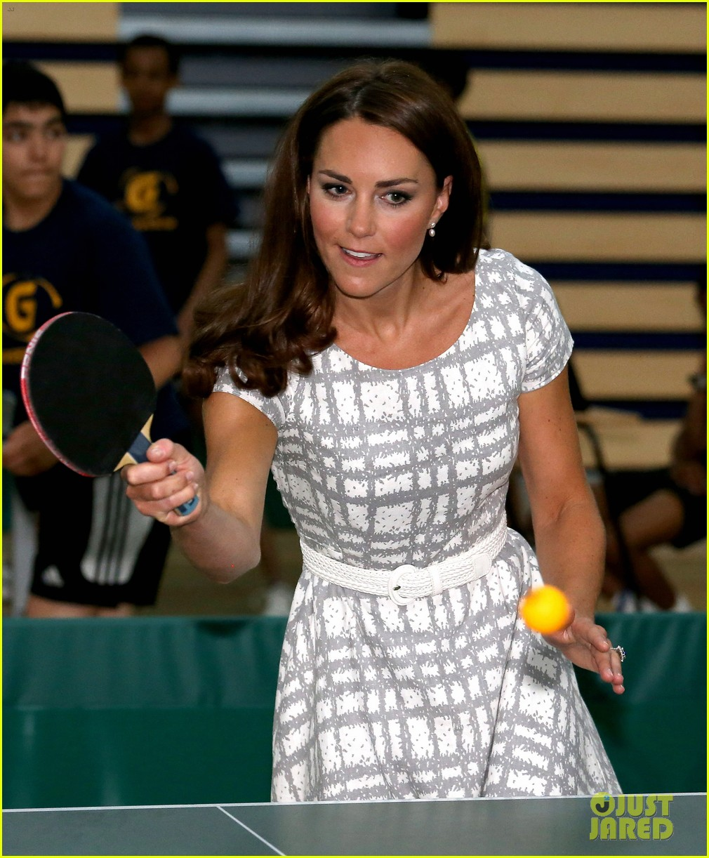 duchess kate middleton ping pong 08
