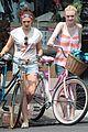 dakota fanning elizabeth olsen big apple bicycles 01