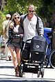 chris hemsworth elsa pataky santa monica stroll with baby india 01