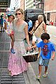 heidi klum broadways newsies with the kids 01