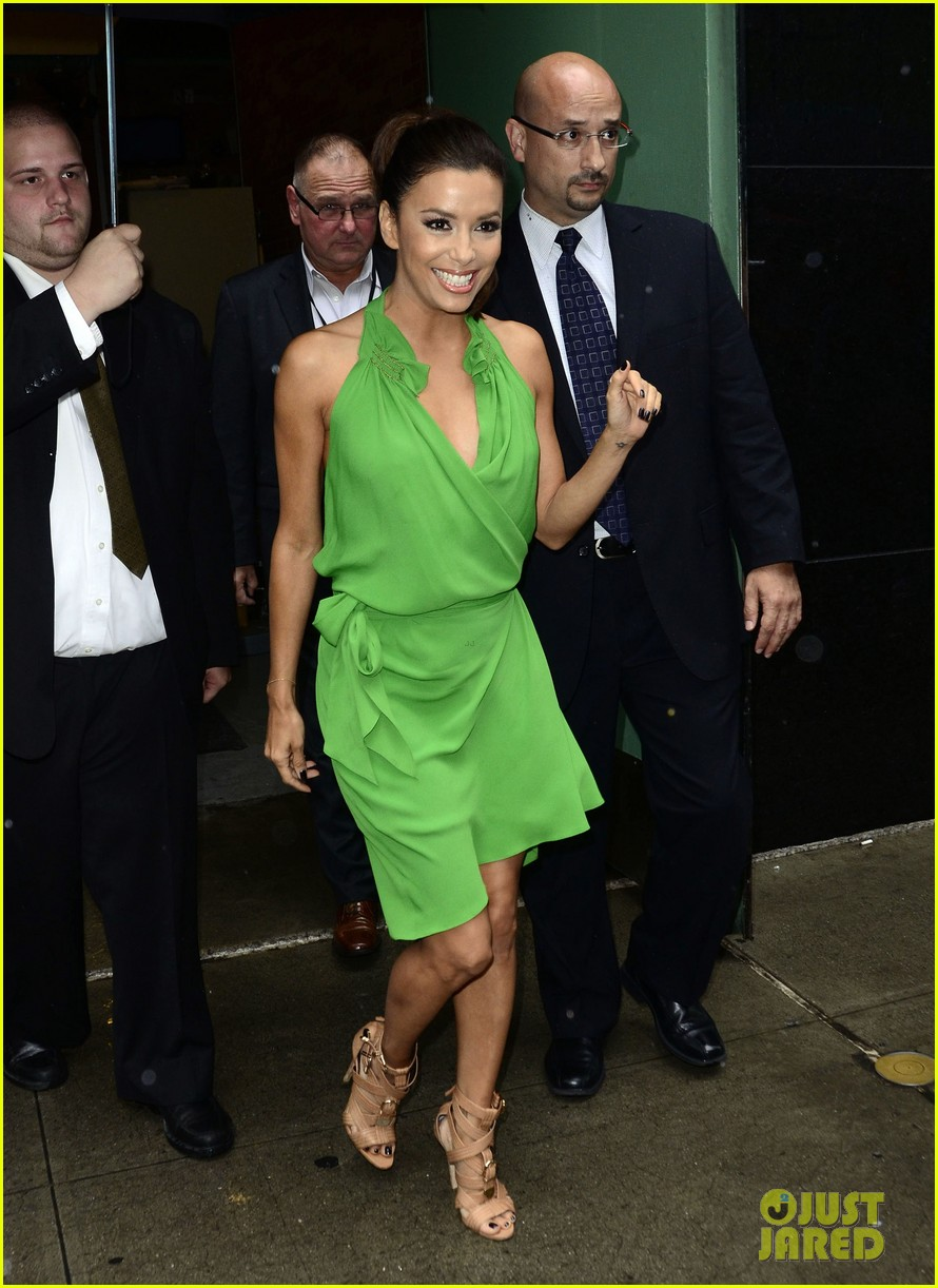 eva longoria leaving studio 04