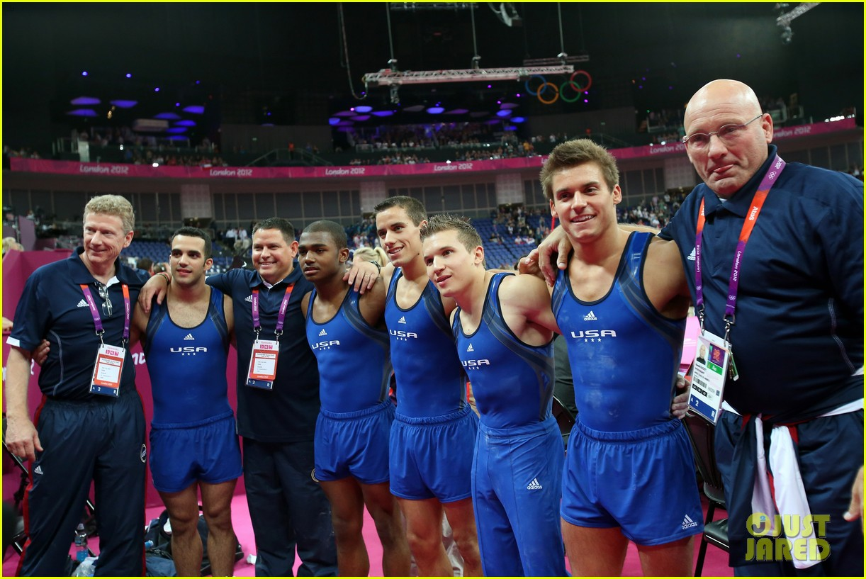 Full Sized Photo of usa mens gymnastics team leads at london ...