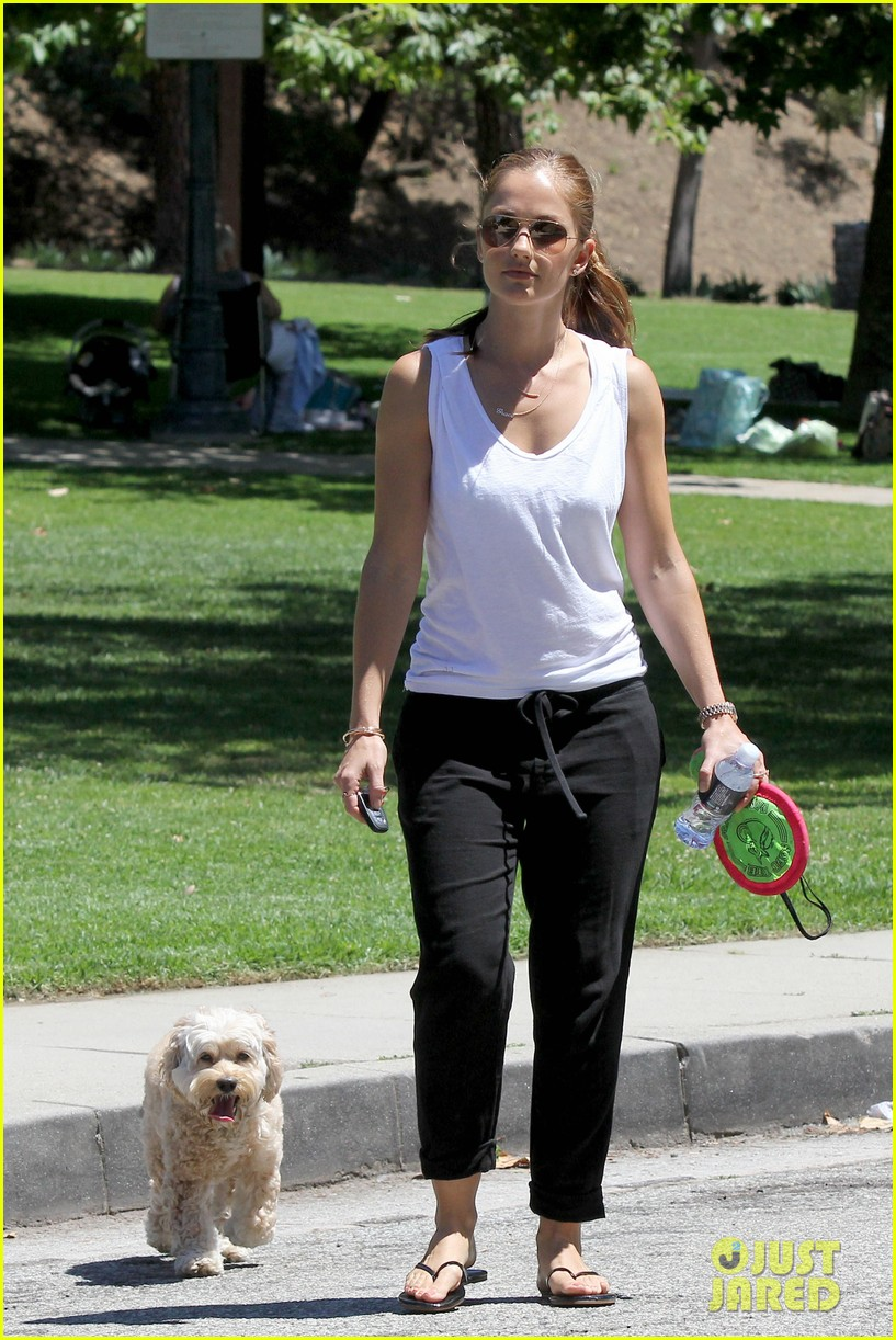 minka kelly chewy playing in the park 01