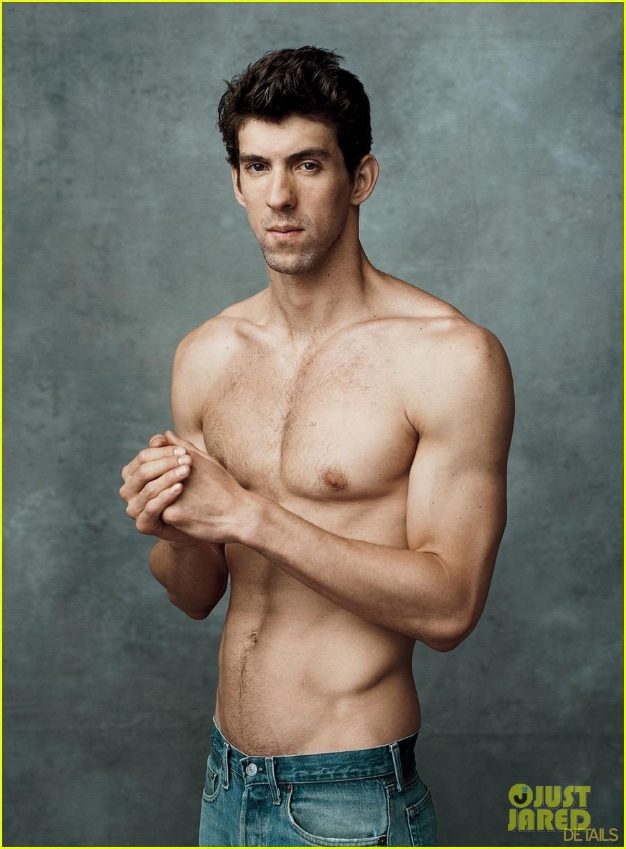 michael phelps shirtless on details olympics issue 03