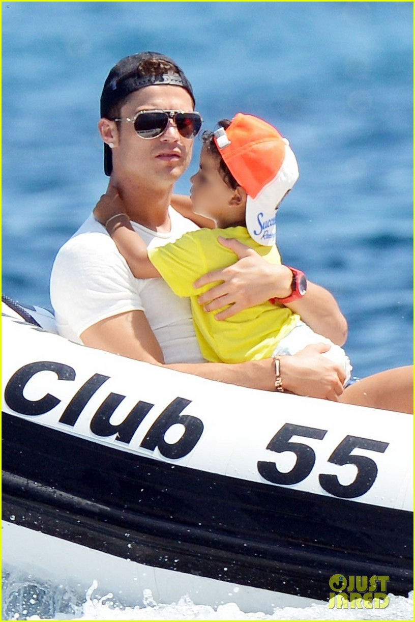 cristiano ronaldo yacht ride cristiano jr irina shayk 01