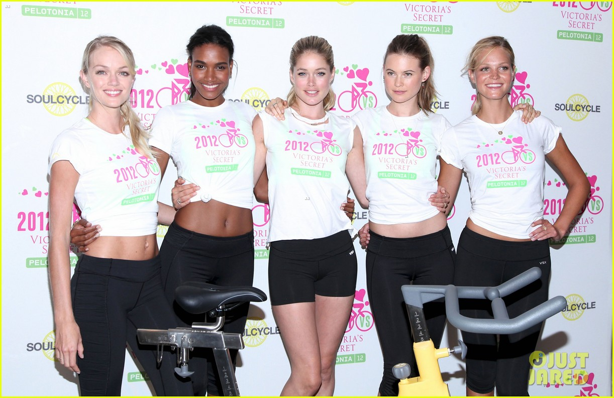 victorias secret angels soulcycle for cancer research 05