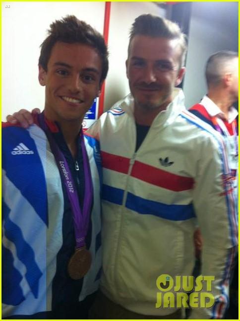 david beckham olympics celebration with tom daley 04