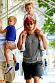 matt bomer family stroll 04