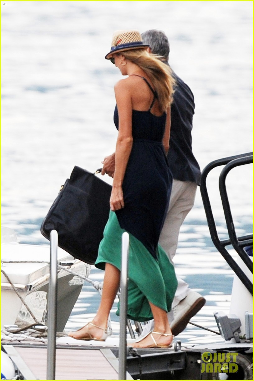 stacy keibler george clooney lake como lovers 07