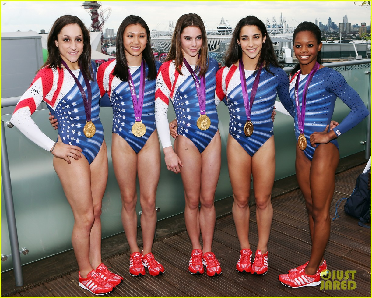 fab five celebrate olympic medals at adidas lounge 03