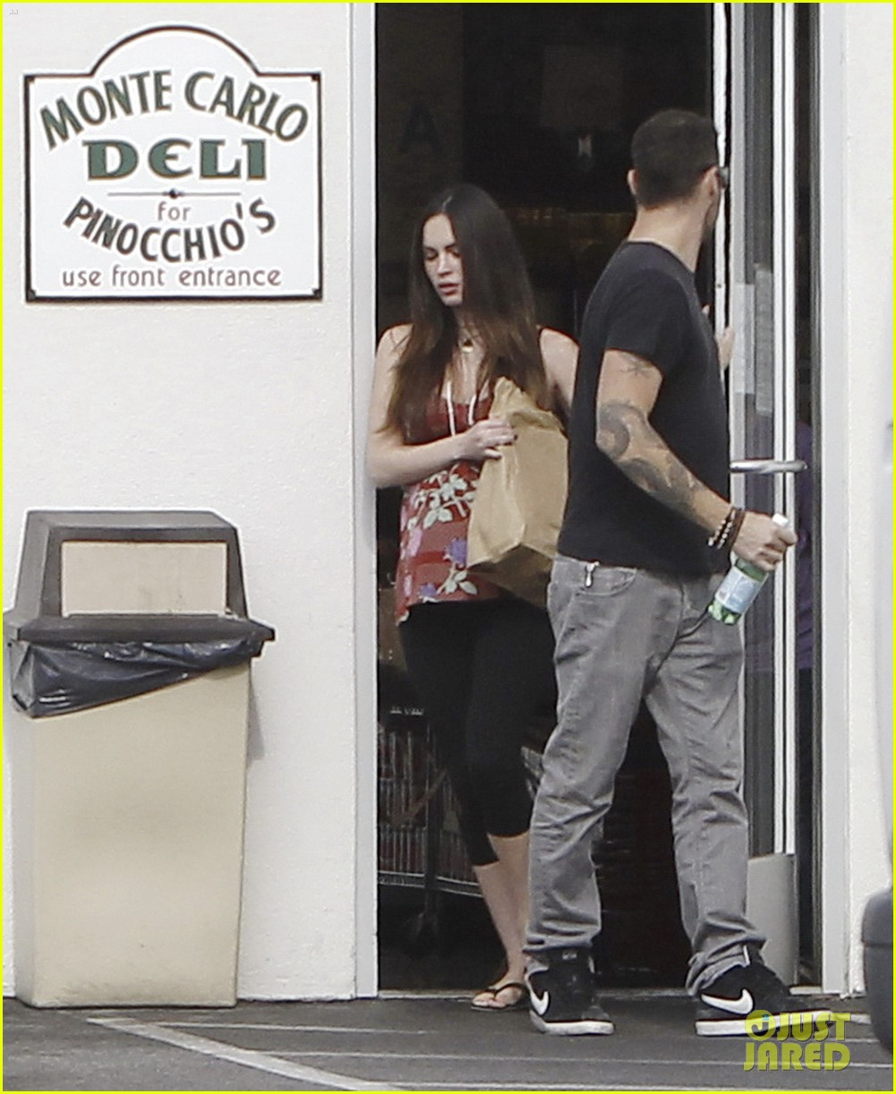 megan fox covers growing baby bump 182711854
