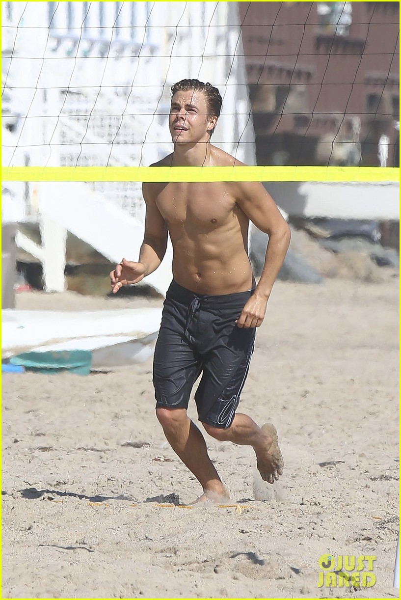 derek hough mark ballas shirtless beach day 05