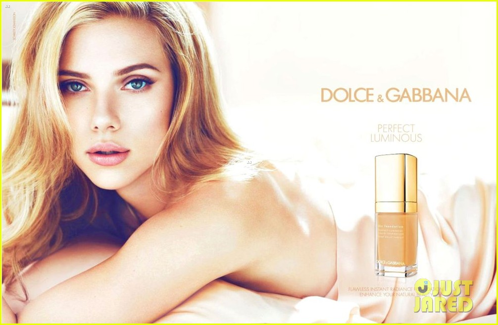 scarlett johansson topless for dolce and gabbana campaign