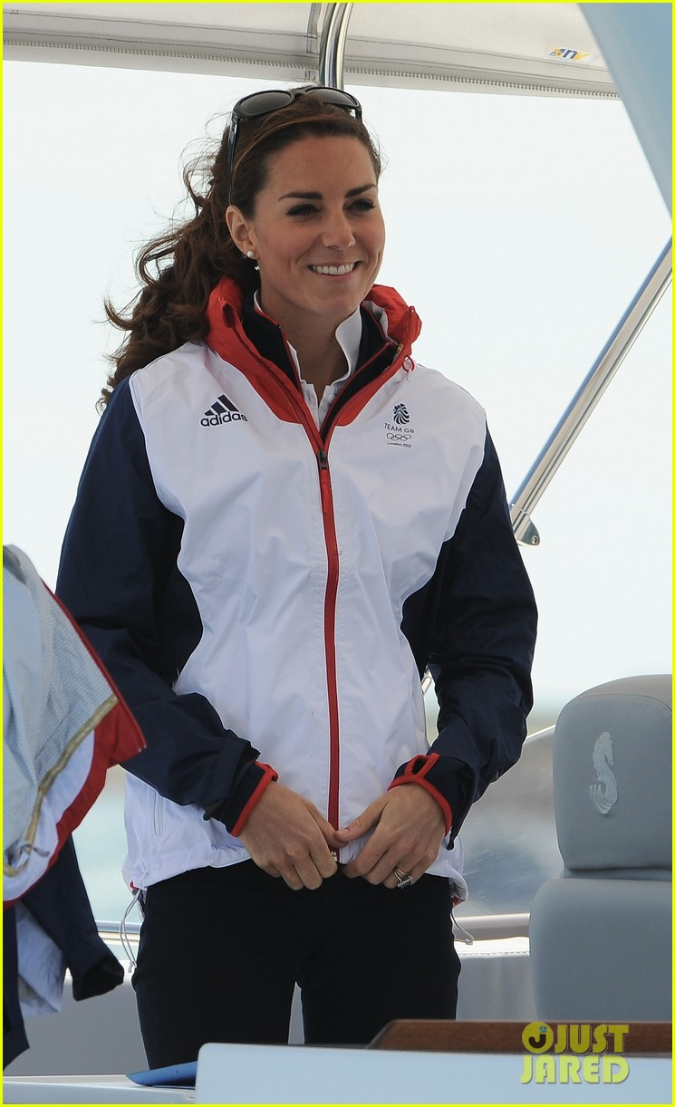 duchess kate womens laser radials at the olympics 022697725