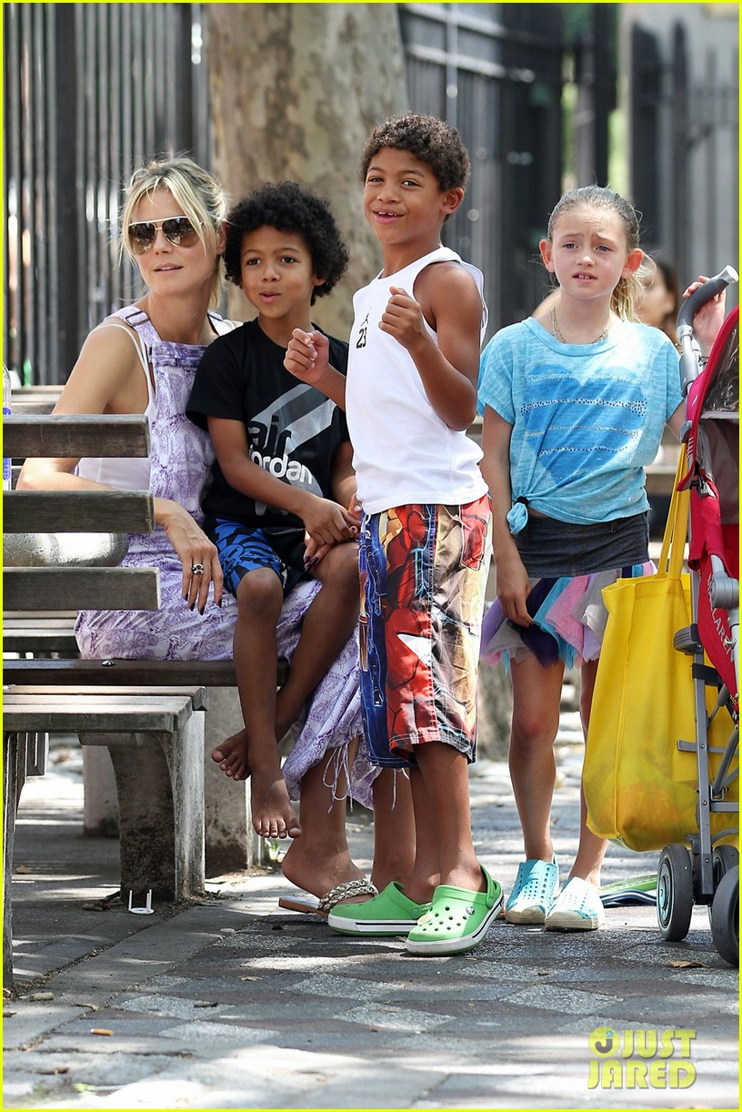 heidi klum park day with kids 06