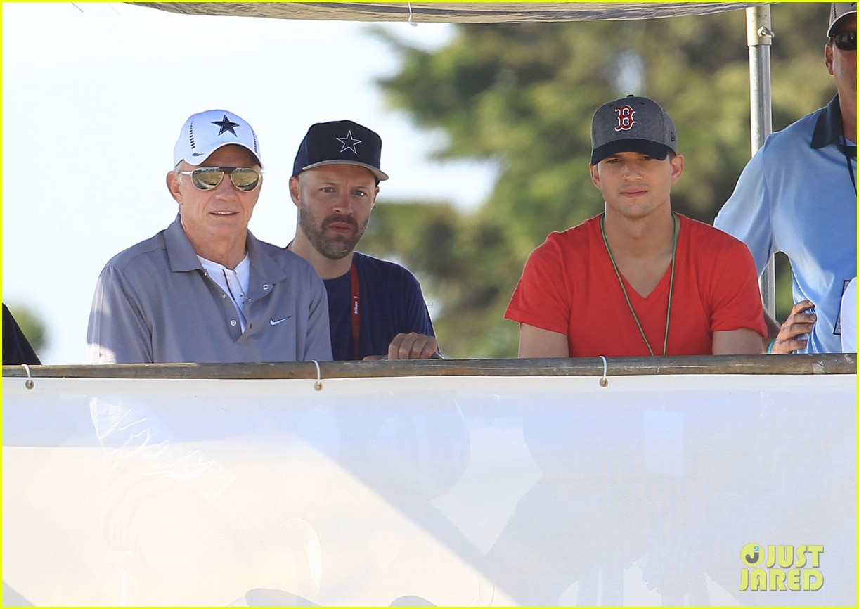 ashton kutcher cowboys training camp 232700561