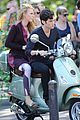 blake lively penn badgley vespa riders for gossip girl 07
